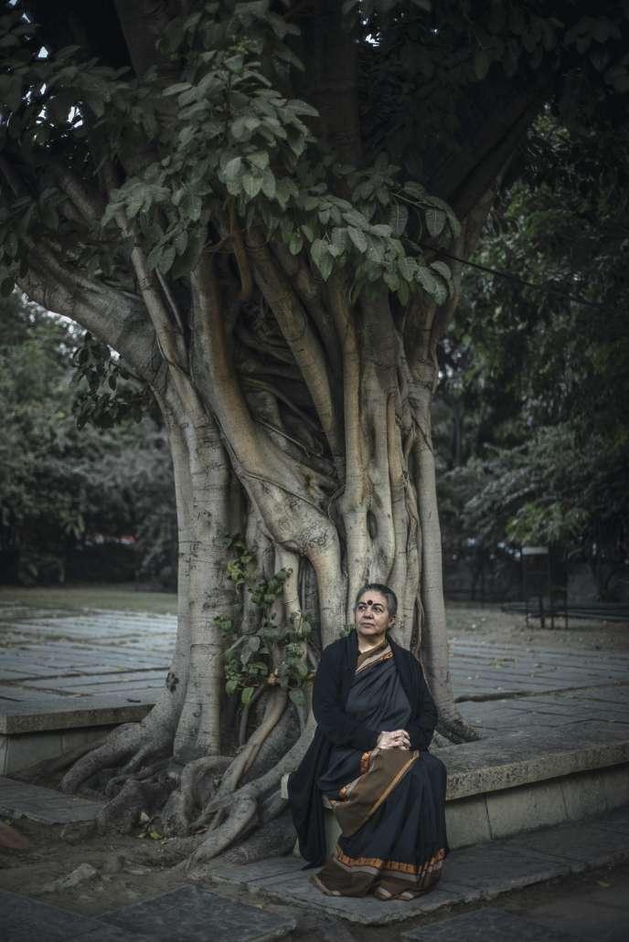 Vandana Shiva, 62 ans, a fondé, à Dehradun, en Inde, une ferme biologique à la fois centre de formation et conservatoire de graines vivantes.