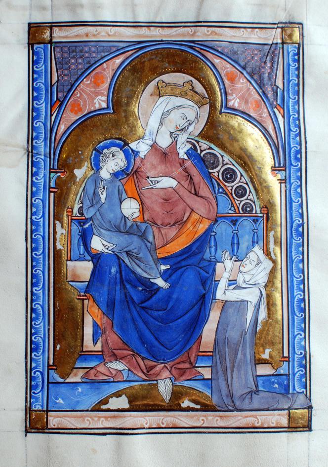 Psautier destiné à une laïque. Parchemin réalisé sous le règne de Saint Louis, vers 1260.