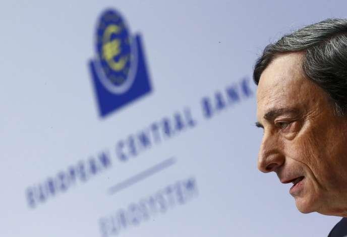 Le président de la Banque centrale européenne, Mario Draghi, à Francfort, au siège de l'institution monétaire, le 4 décembre.