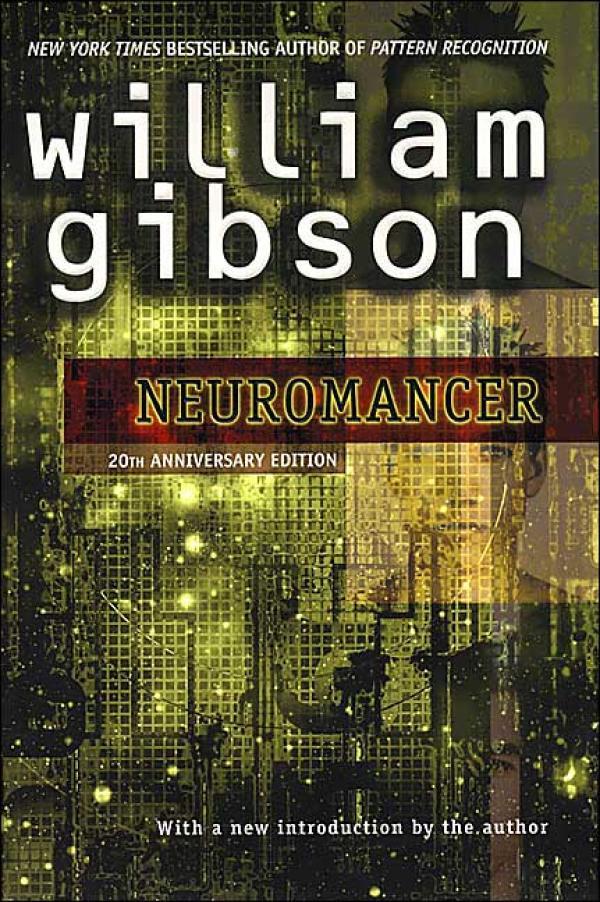 La couverture de l'édition anniversaire américaine de Neuromancien.
