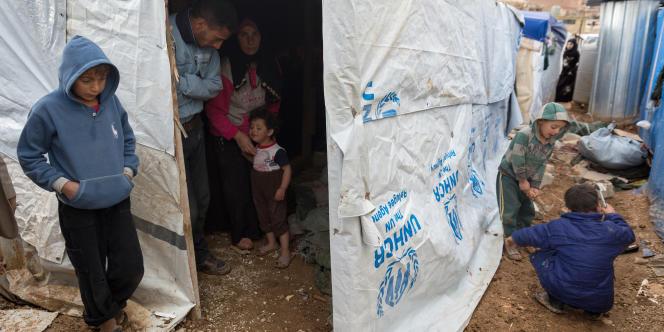 Dans un camp de réfugiés syriens, à Arsal, dans l'est du Liban, enoctobre2014.