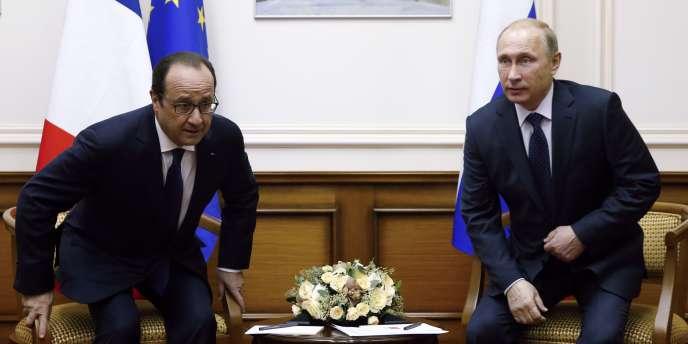 François Hollande et Vladimir Poutine, le 6 décembre.