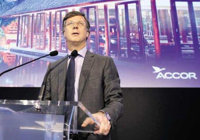 Sébastien Bazin est arrivé à la tête du groupe hôtelier en août 2013.