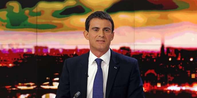 Manuel Valls sur le plateau de France 2 le 7 décembre.