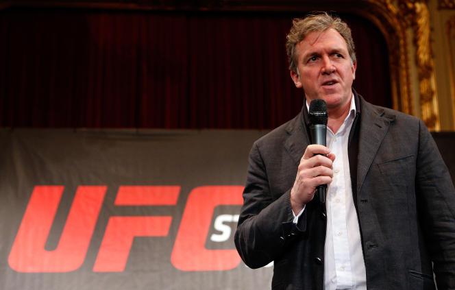 Garry Cook, directeur général de l'Ultimate Fighting Championship (UFC) à Stockholm en 2013.