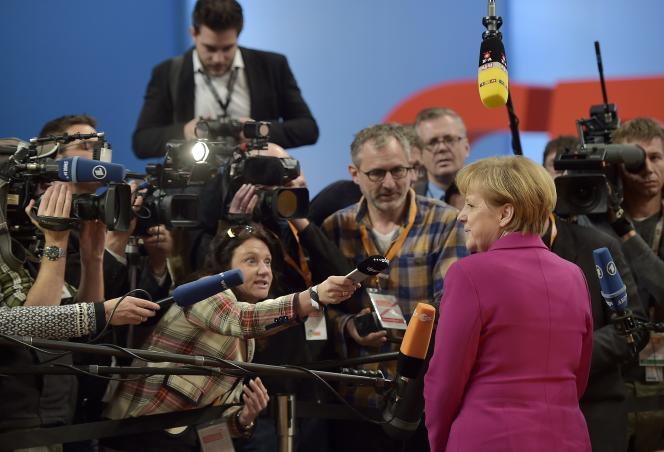 La chancelière allemande Angela Merkel, lundi 8décembre, à Cologne.