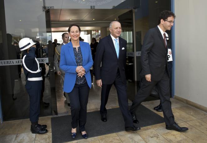 Laurent Fabius et Ségolène Royal, à Lima, le 9 décembre 2014.