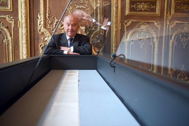 Gérard Lhéritier, fondateur de la société Aristophil, à Paris, le 2 avril 2014.