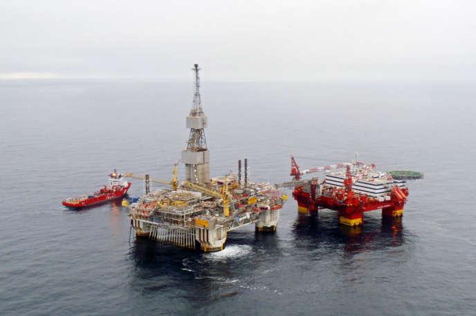 Plateforme pétrolière au large de la Norvège, en septembre 2012.