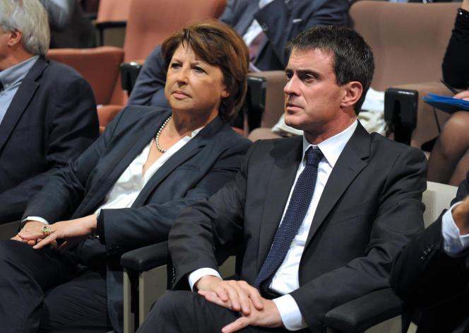 Martine Aubry et Manuel Valls, à Lille, le 9 octobre.