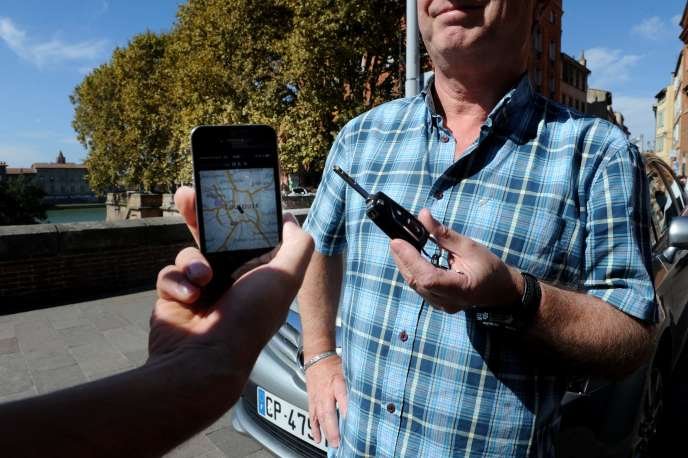 Lancé en février à Paris, UberPop connaît un engouement partout en France. Ici à Toulouse.