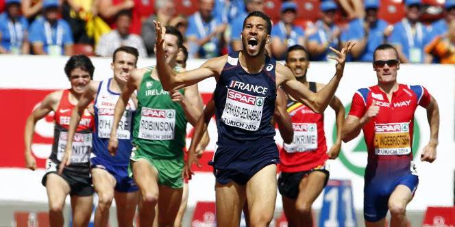 Mahiedine Mekhissi, lors de la finale européenne du1500mètres à Zurich, le17août.