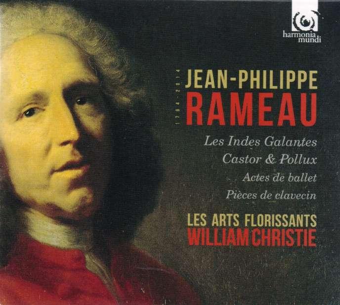 Pochette d'un disque d'enregistrements d'oeuvres de Rameau par l'ensemble