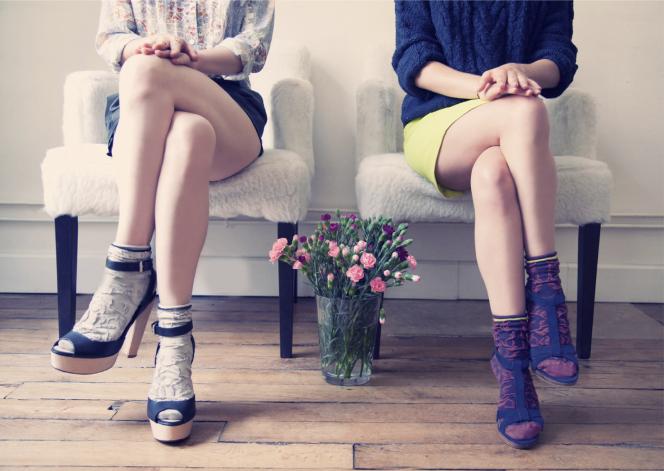 La campagne de la marque française de chaussettes fantaisie Pas Chassé.