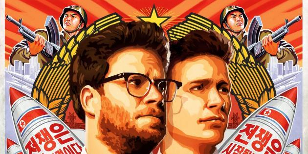 """L'affiche du film de Seth Rogen, """"The Interview""""."""