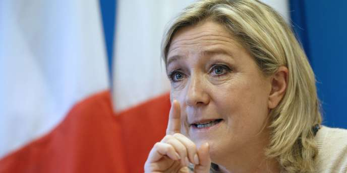 Marine Le Pen, le 8 décembre, au siège du FN.