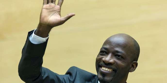 Charles Blé Goudé, bras droit de l'ancien président ivoirien Laurent Gbagbo, le27 mars 2014  à la Cour pénale internationale (CPI) de La Haye.