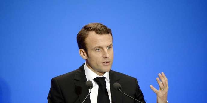 Emmanuel Macron, ministre de l'économie, le 10décembre2014.