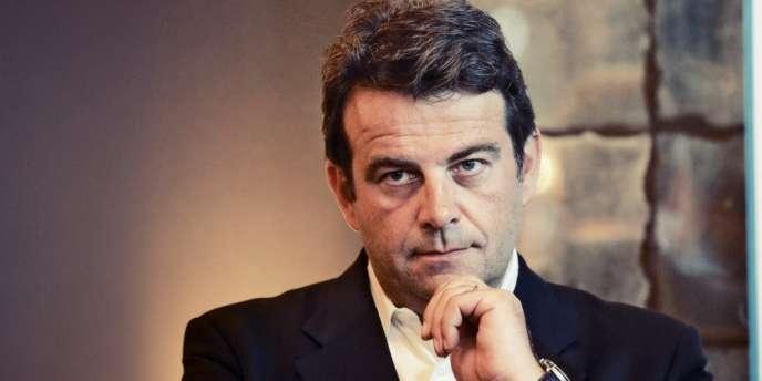 ©Vincent Isore/IP3 ; Montrouge, France le 3 Septembre 2014 - Bruno Le Maire candidat a la presidence de l UMP est l invite des jeunes populaires des Hauts de Seine dans le cadre de leur rentree politique - Thierry Solere