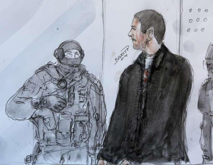 Mehdi Nemmouche à la cour d'appel de Versailles, en juin 2014.
