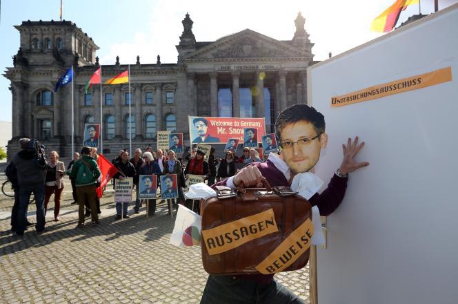 Manifestation contre l'espionnage de la NSA, le 12 décembre à Berlin.
