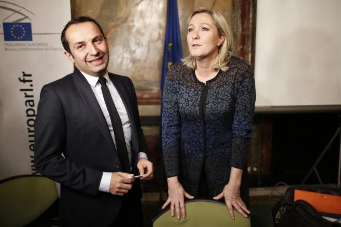 Marine Le Pen et Sébastien Chenu, le 12 décembre.