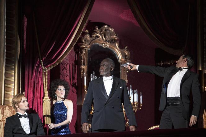 Andreas Wolf (Leporello), Barbara Hannigan (Donna Anna), Sir Willard White (Il Commendatore), Jean-Sébastien Bou (Don Giovanni)