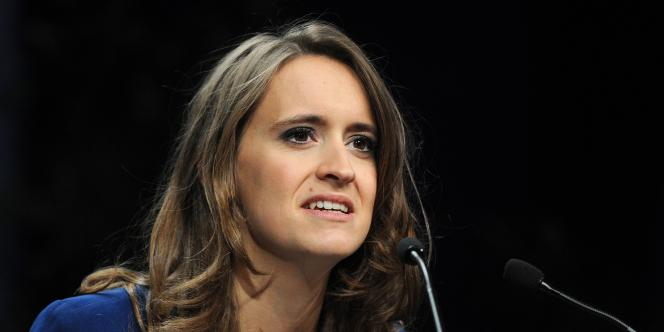 Madeleine Bazin de Jessey, porte-parole de Sens commun, une association née dans le sillage de La Manif pour tous.