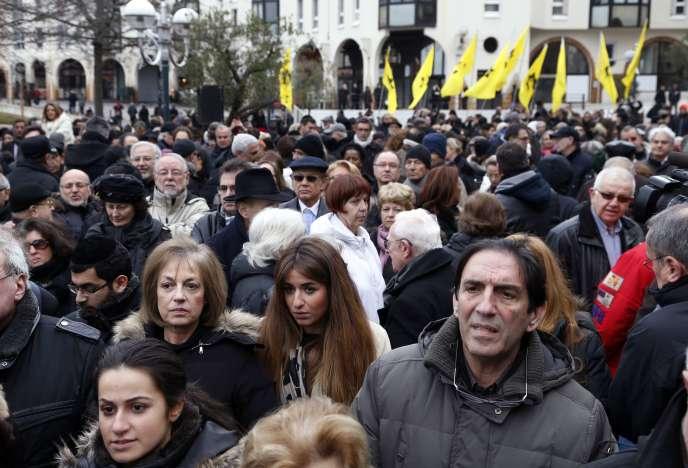 Manifestation contre l'antisémitisme à Créteil, le 7 décembre.