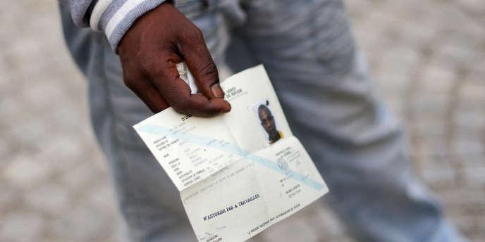 Un demandeur d'asile somalien le 22 octobre 2009 à Pontoise, en région parisienne.