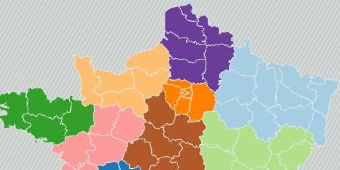 La carte de France à 13 régions.