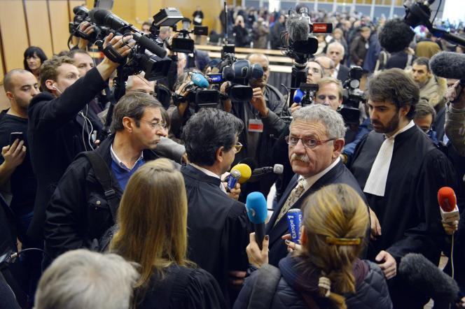L'ex-maire de La Faute-sur-Mer René Marratier, au tribunal correctionnel des Sables-d'Olonne, le 12 décembre.