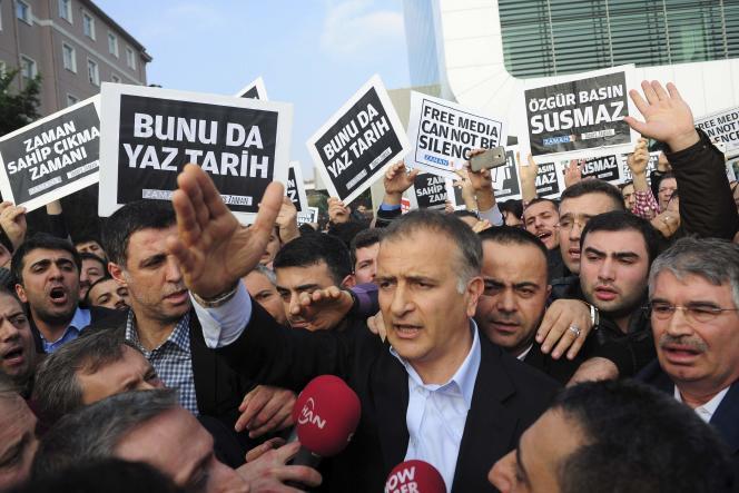 Ekrem Dumanli, rédacteur en chef du journal «Zaman», dimanche 14 décembre à Istanbul.