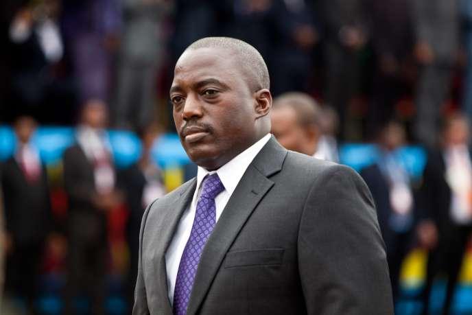 Le président Joseph Kabila à Kinshasa, en décembre 2011.