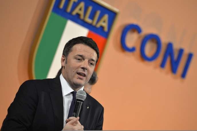 « Bien trop souvent, l'Italie semble résignée. On peut perdre mais ce qui est inacceptable, c'est de ne pas essayer de gagner », a regretté Matteo Renzi pour justifier la candidature de l'Italie.