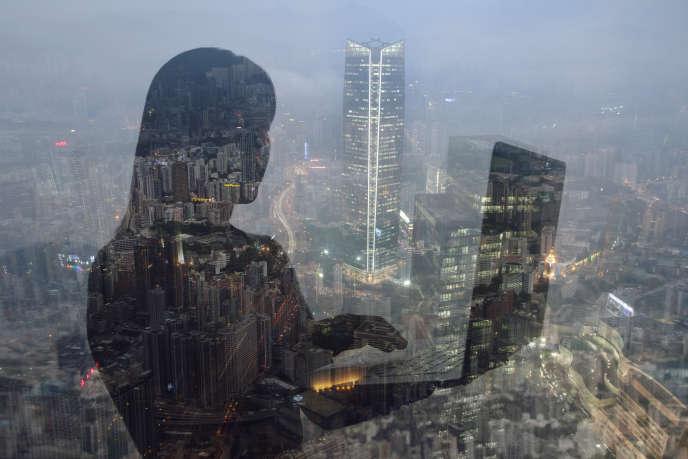 Vue de Hong Kong.