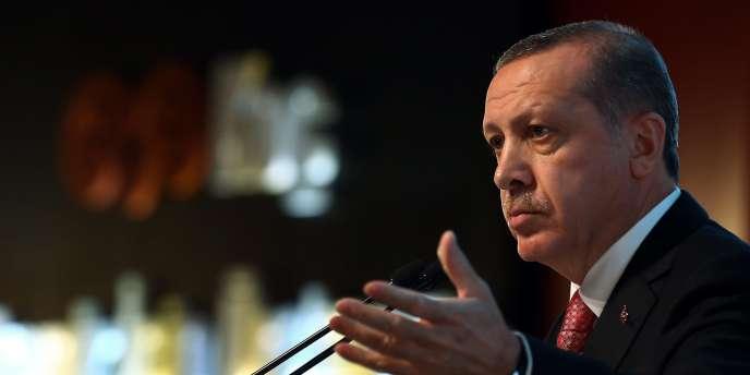 Le président de la Turquie, Recep Tayyip Erdogan, lors d'une conférence de presse, le 15décembre2014.