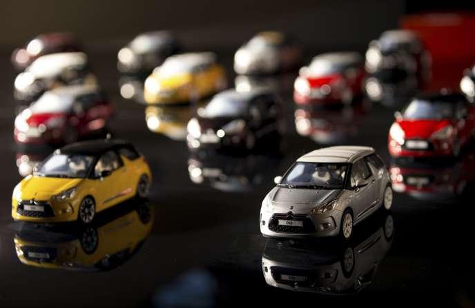 Des Citroën DS3 miniatures.
