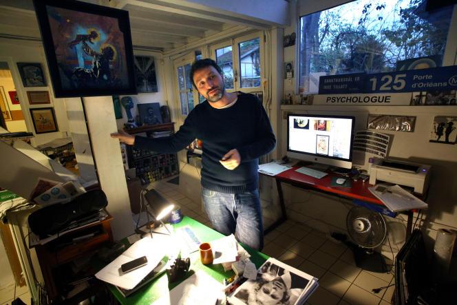 Christian Guémy, alias C215, dans son atelier.