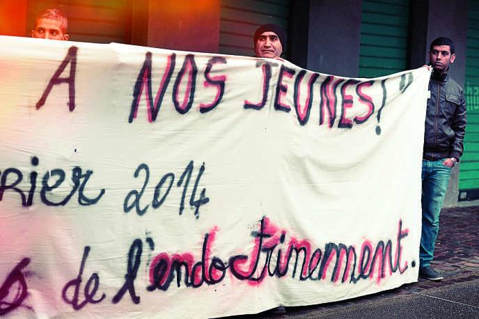 Manifestation contre l'endoctrinement des jeunes par les djihadistes, à Strasbourg, en février dernier.