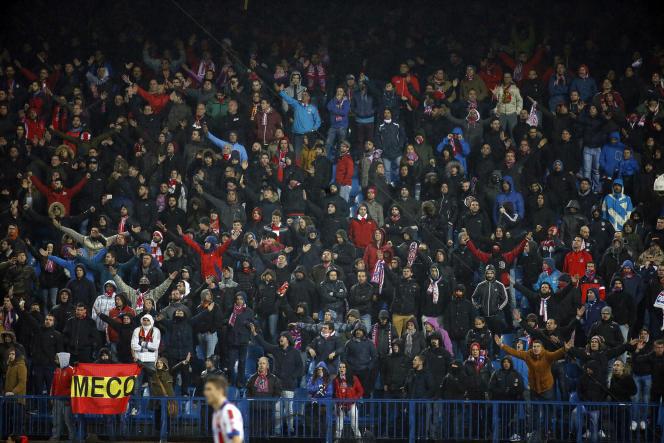 Des supporteurs de l'Atlético Madrid le 14 décembre.
