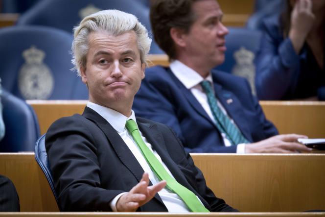 Le leader néerlendais du Parti pour la liberté au Parlement européen à La Haye en 2014.