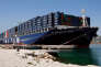 The vessel 'Jules Verne' of the French container transportation and shipping company CMA CGM is docked in the harbor of Marseille, southern France, on June 4, 2013. The 'Jules Verne', sailing under the French flag, is the world's largest containership. AFP PHOTO / POOL / CLAUDE PARIS