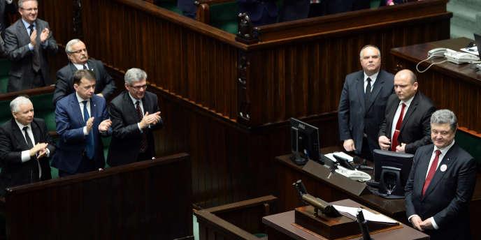 Petro Porochenko au Parlement de Varsovie, en Pologne, le 17 décembre.
