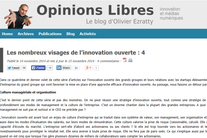 Blog d'Olivier Ezratty (capture d'écran).