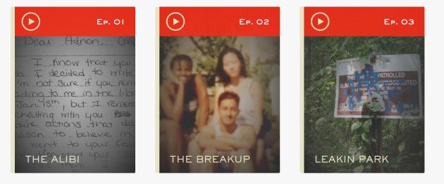 Des épisodes disponibles sur serialpodcast.org.