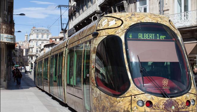 Ligne 4 du tramway de Montpellier.