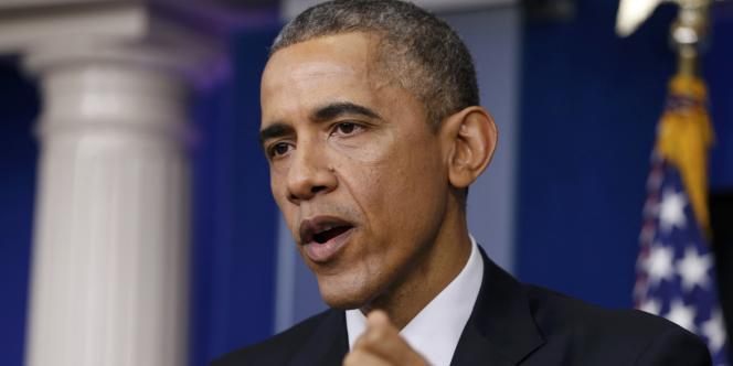 Le président Barack Obama lors de sa dernière conférence de presse en 2014.