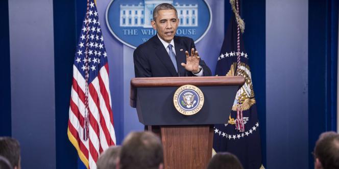 Le président américain Barack Obama, lors d'une conférence de presse à la Maison Blanche, le 19 décembre.