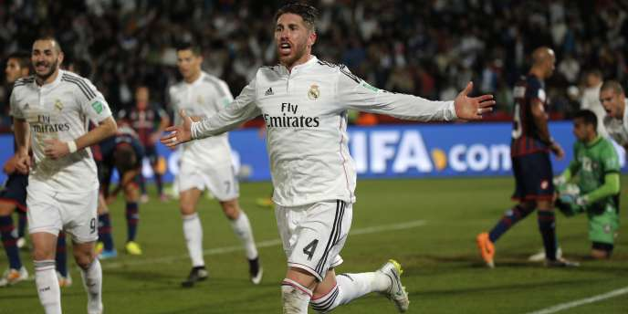 Sergio Ramos, buteur face à San Lorenzo, samedi 20 décembre, à Marrakech.